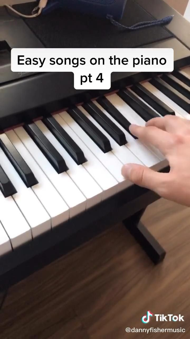 Easy Songs On The Piano Part 4 Video Piano Tutorials Songs Piano Tutorials Piano Notes Songs