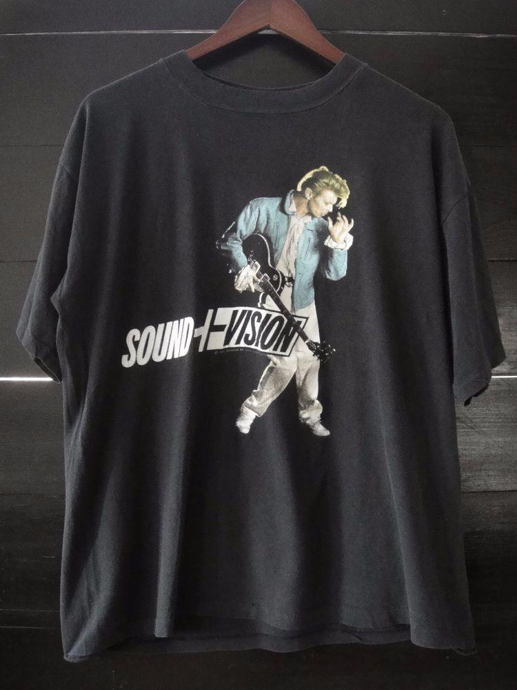 Vintage 1990 David Bowie Sound Vision 50 50 World Tour T Shirt Xl Rare Brockum Ebay Roupas