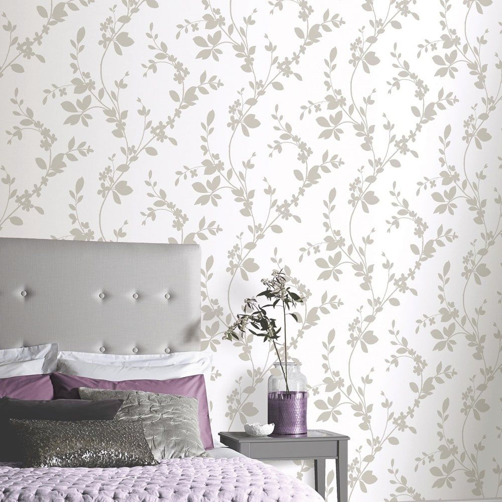 Pin By Gemma E On Wallpaper Feature Wall Bedroom