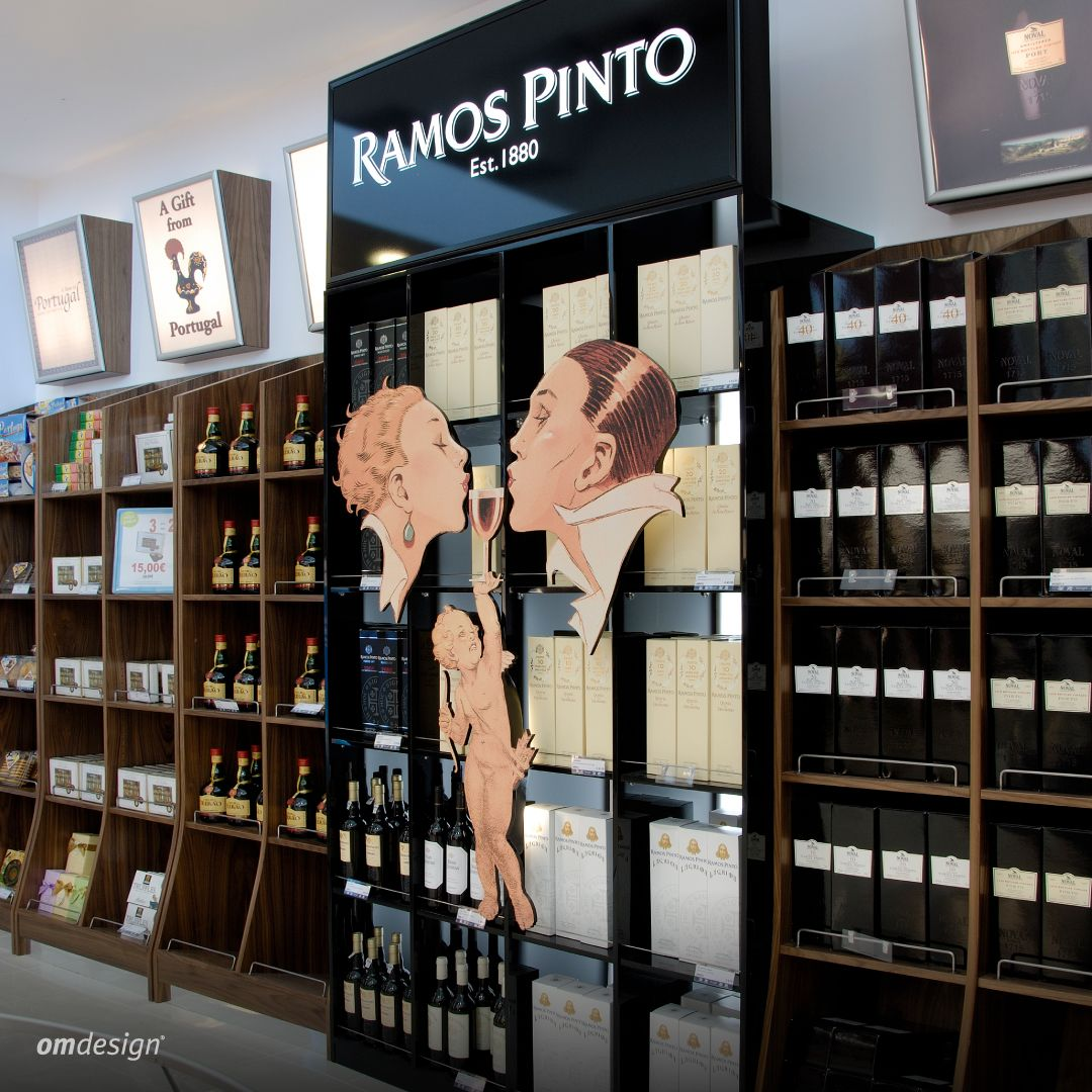 Loja franca Ramos Pinto (2005)  #Omdesign #Design #Portugal #LeçadaPalmeira #Since1998 #AwardedAgency #DesignAwards #SpatialDesign #Shop #Airport #OportoAirport #Airportshopping #Porto #Oporto #VisitPorto #RamosPinto #VinhodoPorto #PortWine #IVDP #VinhosPortugueses #PortugueseWines #WineLovers