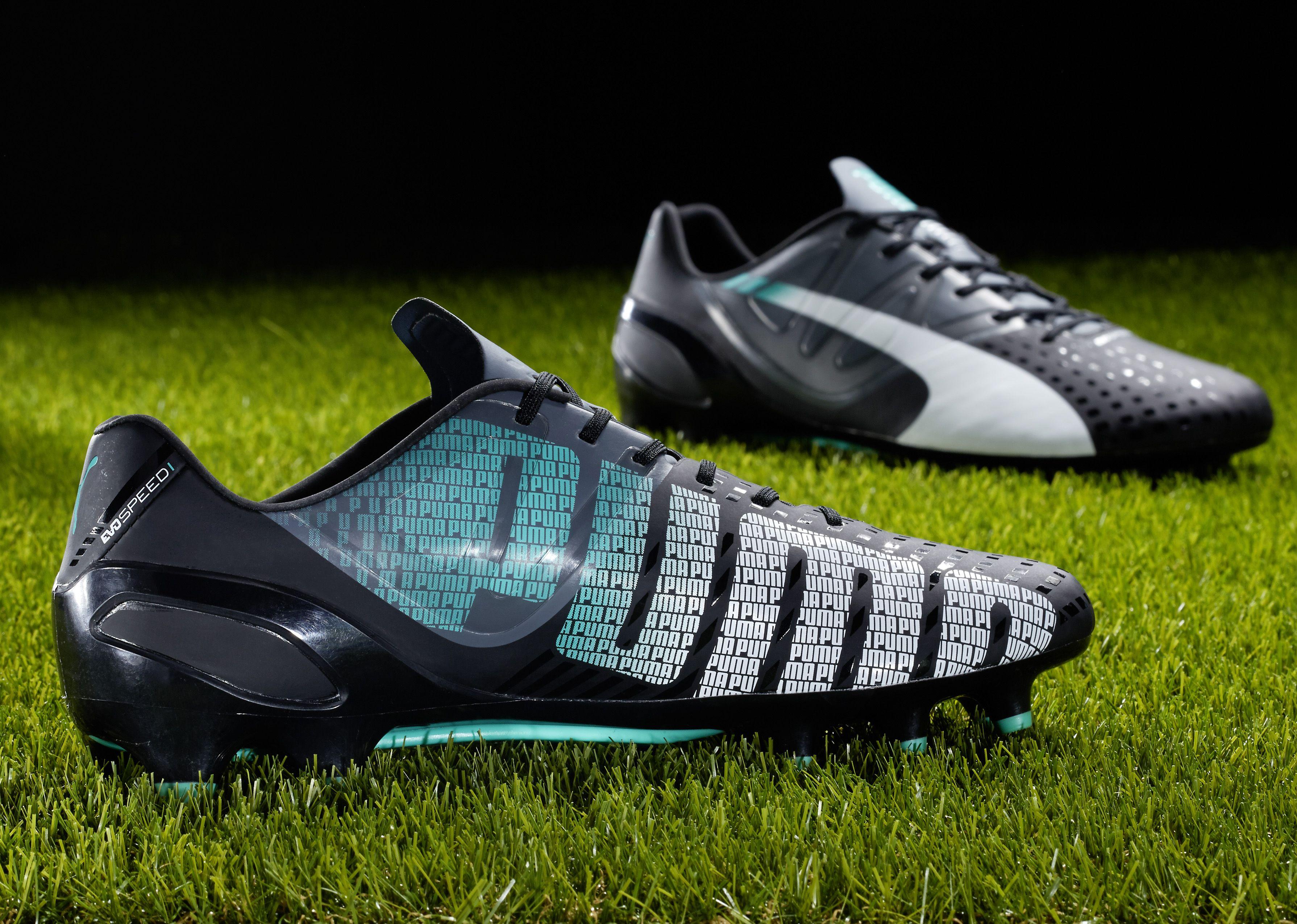 black and green puma football boots