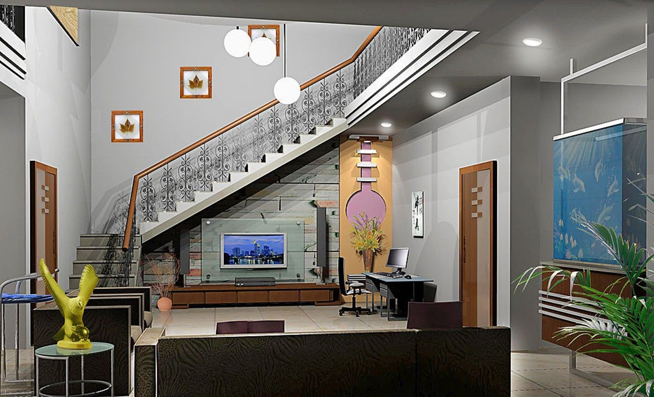 Kitchen Designs Under Stairs