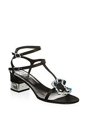 Roger Vivier Crown Jewels Thong Sandals Fa14kipdwS