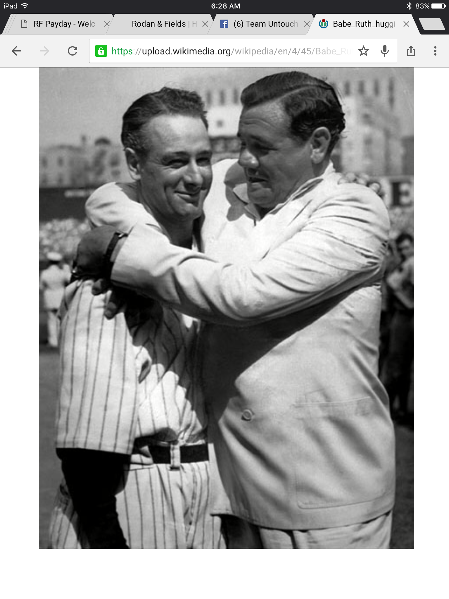 "Lou Gehrig was a Hall of Fame baseball player, who was the first person to be diagnosed with a condition that was debilitating, and which bore his name for a long time. 'Lou Gehrig's Disease' is now called 'ALS'. In the famous speech that he gave at his retirement ceremony at Yankee stadium in 1939 he said, ""I am the luckiest man on the face of the earth"". He held the batting record broken 60 years later by Cal Ripkin, Jr. The illness forced his early retirement and he was go"