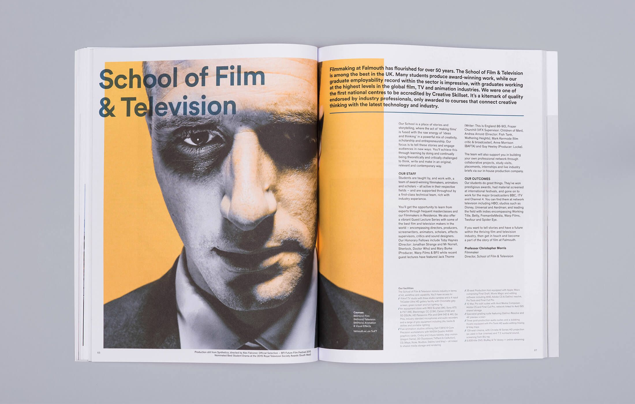 Falmouth University Prospectus Visual Identity Art Direction