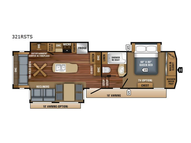 Jayco Eagle 321rsts Fifth Wheel Highlights Recliners Kitchen