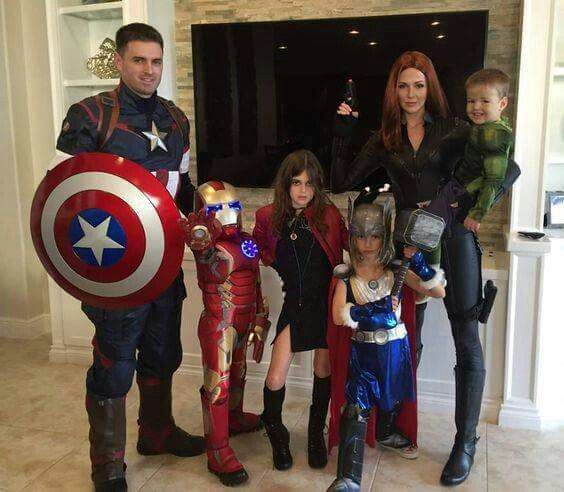 #Halloween #family #costumes #Heroes #Avengers