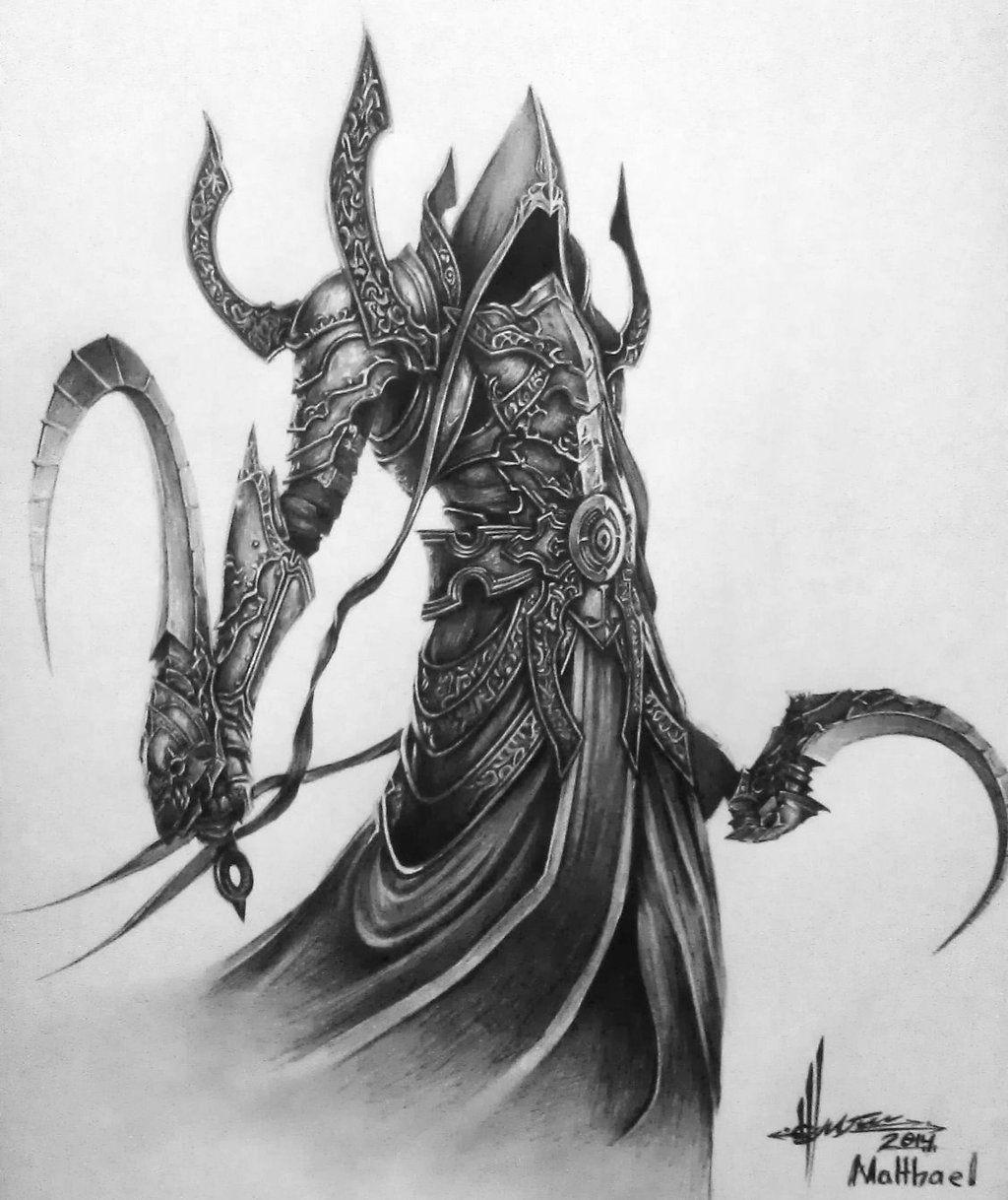 Malthael Diablo Iii Dark Fantasy Art Dark Art Illustrations Grim Reaper Art