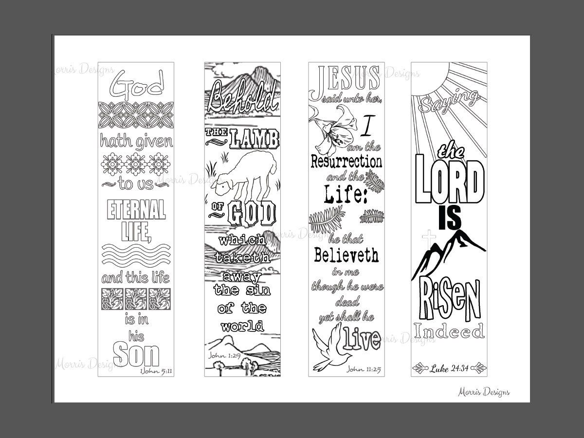 Religious bookmarks to color - Bible Journaling Bookmark Color Your Own Christian By Cjiwebstudio