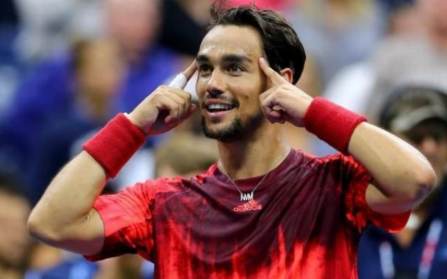 Image result for fognini nadal us open