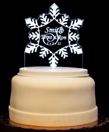 10pcs Silver Glitter Snowflake Wedding Christmas Cupcake Picks Cake ...