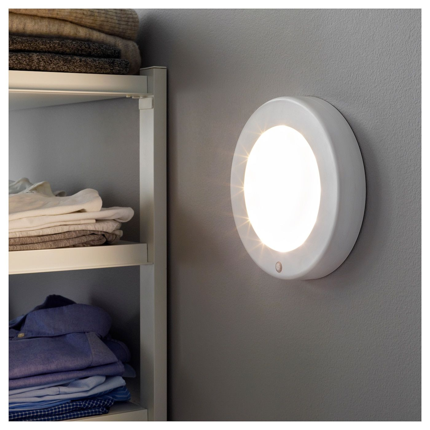 Ikea Stotta Led Ceiling Wall Lamp Battery Operated White Wall