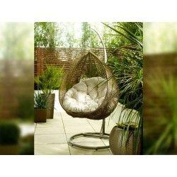Living It Up Garden Furniture Hanging rattan egg chair by living it up living it up garden hanging rattan egg chair by living it up living it up workwithnaturefo
