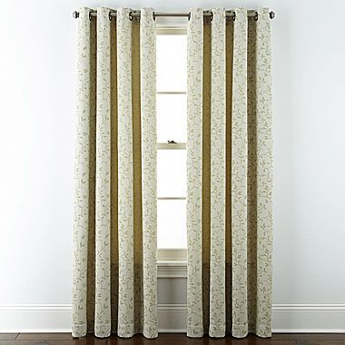 Jcp Jcpenney Home Anza Grommet Top Curtain Panel Grommet Top