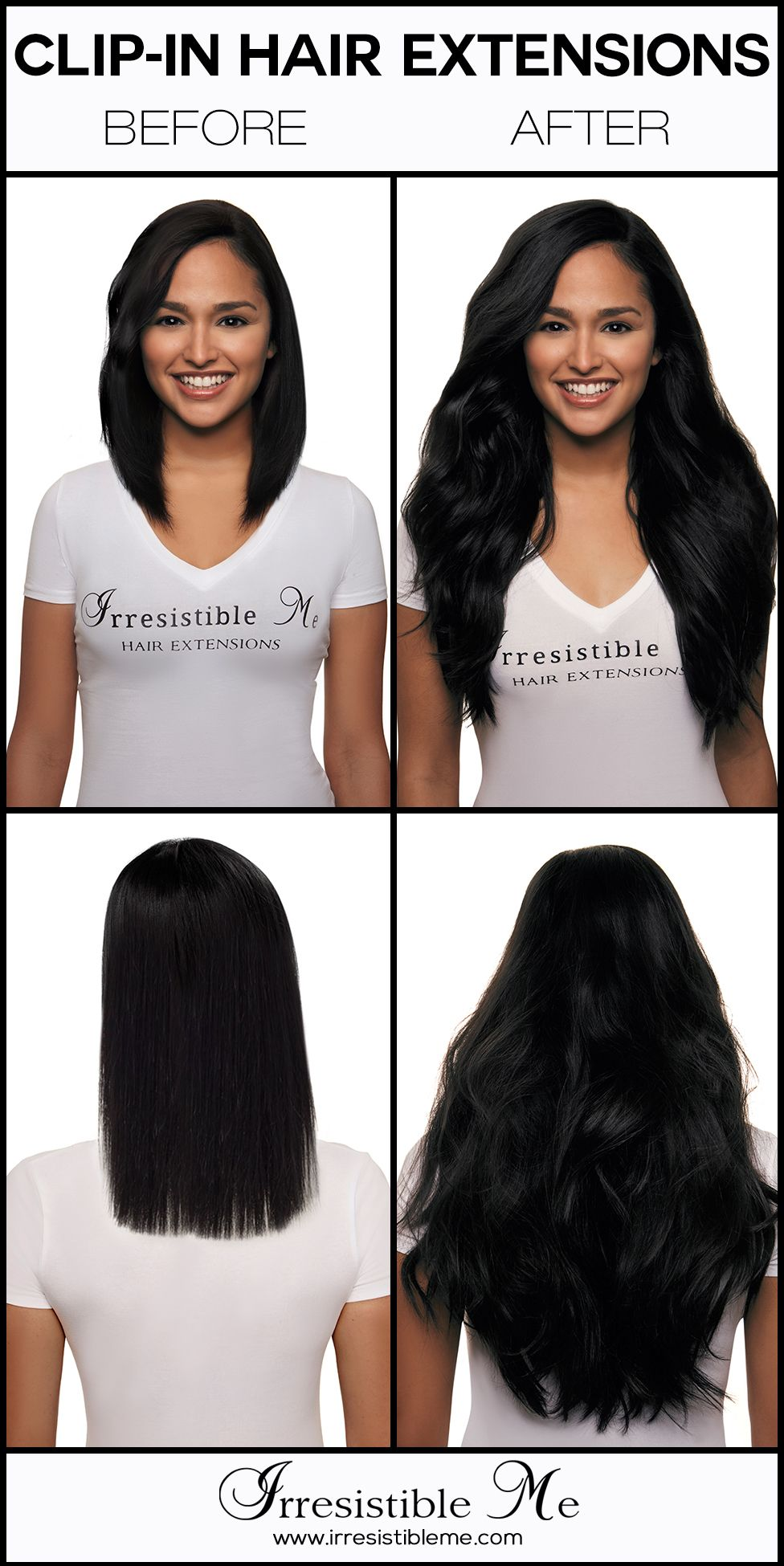 Make A Dramatic Hairstyle Change With Irresistible Me 100 Human Remy Clip In Hair Extensions You Can Add Clip In Hair Extensions Cool Hairstyles Hair Styles