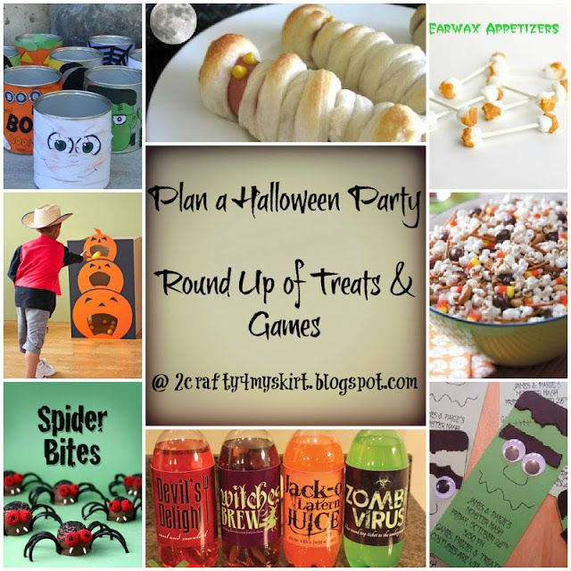 2 Crafty 4 My Skirt Round Up ~ Halloween Party Games and Treats - halloween party ideas games