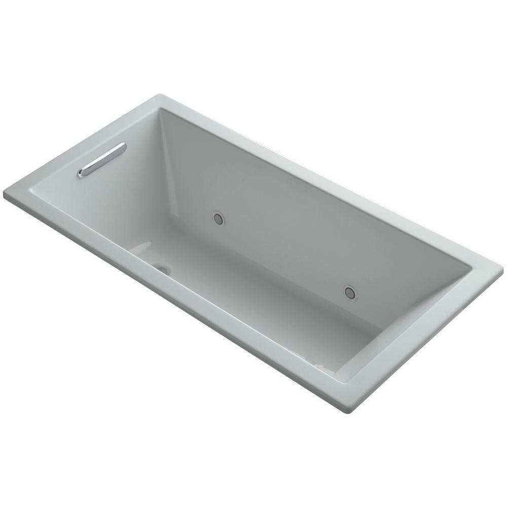 Kohler underscore 5 ft reversible drain soaking tub in