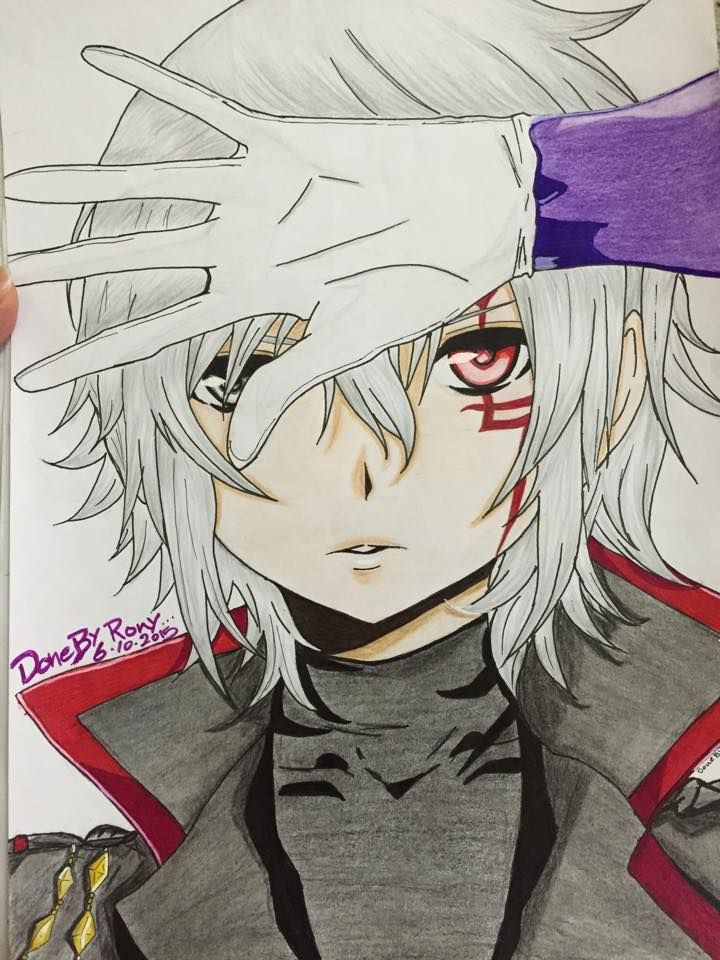 my new draw for Allen walker - D.gray man i used Faber castell classic :( feel sorry for him he look so weird