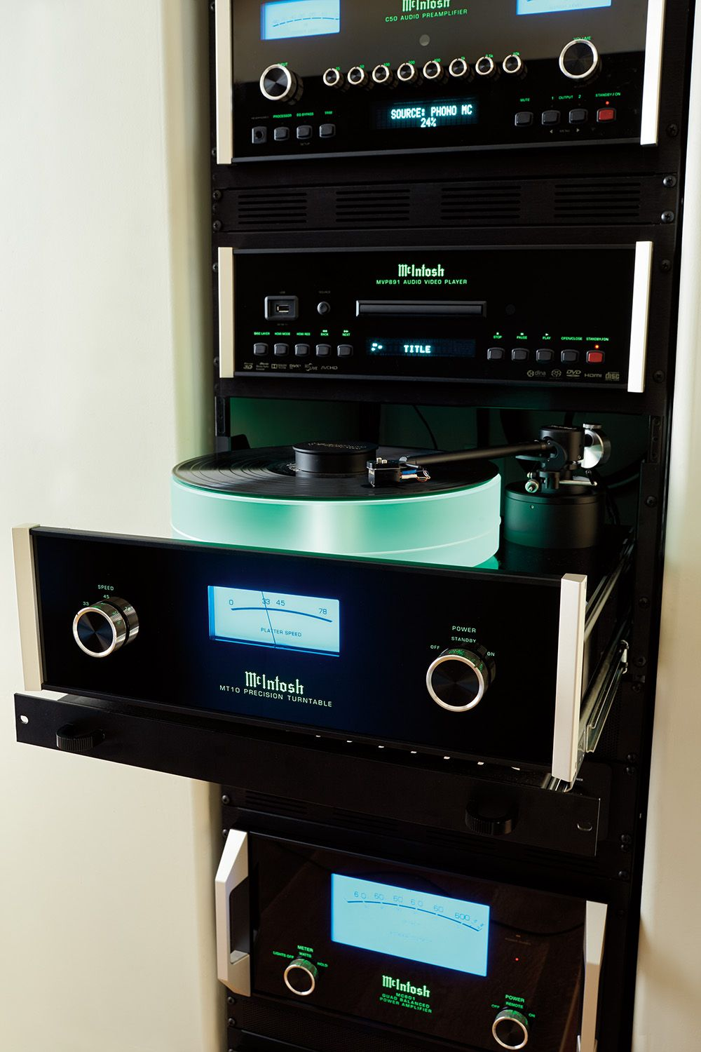 This Mcintosh Stack Is Housed In A Very Special Rack That