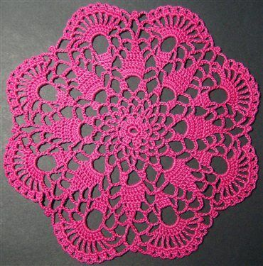 Easy Doily Patterns For Beginners Crochet Petite Spiral Pineapple
