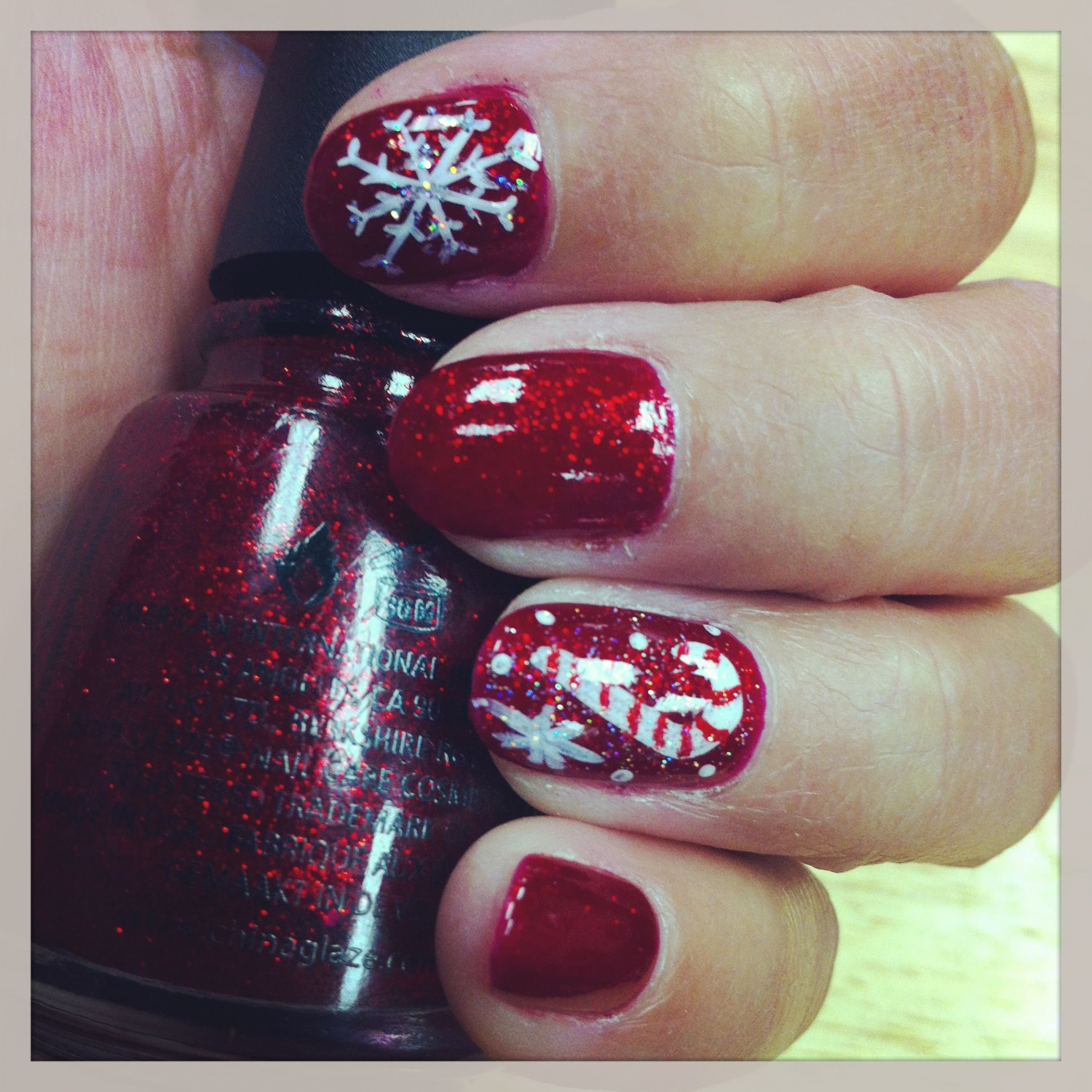 Christmas fingernails :) | Nails | Pinterest | Fingernail designs ...