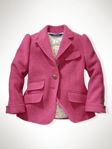 6021d988eafc Pink toddler girls jacket by Ralph Lauren