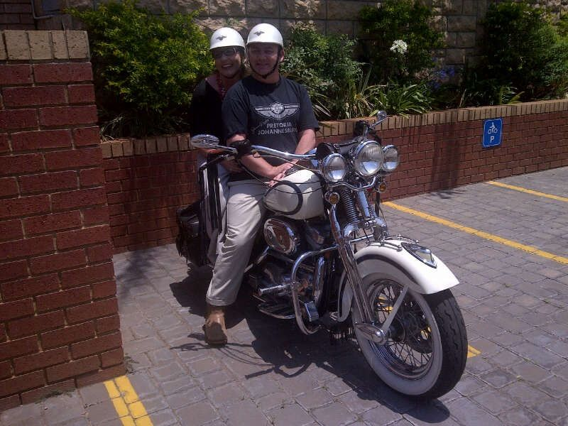 The other lady.... Stephen's Harley Davidson :-)