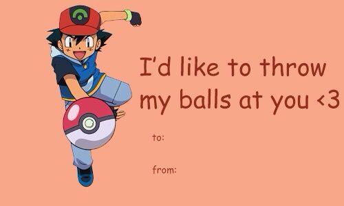 Hehehe Nasty Pokemon Trainer Valentines Day Card Valentine Day