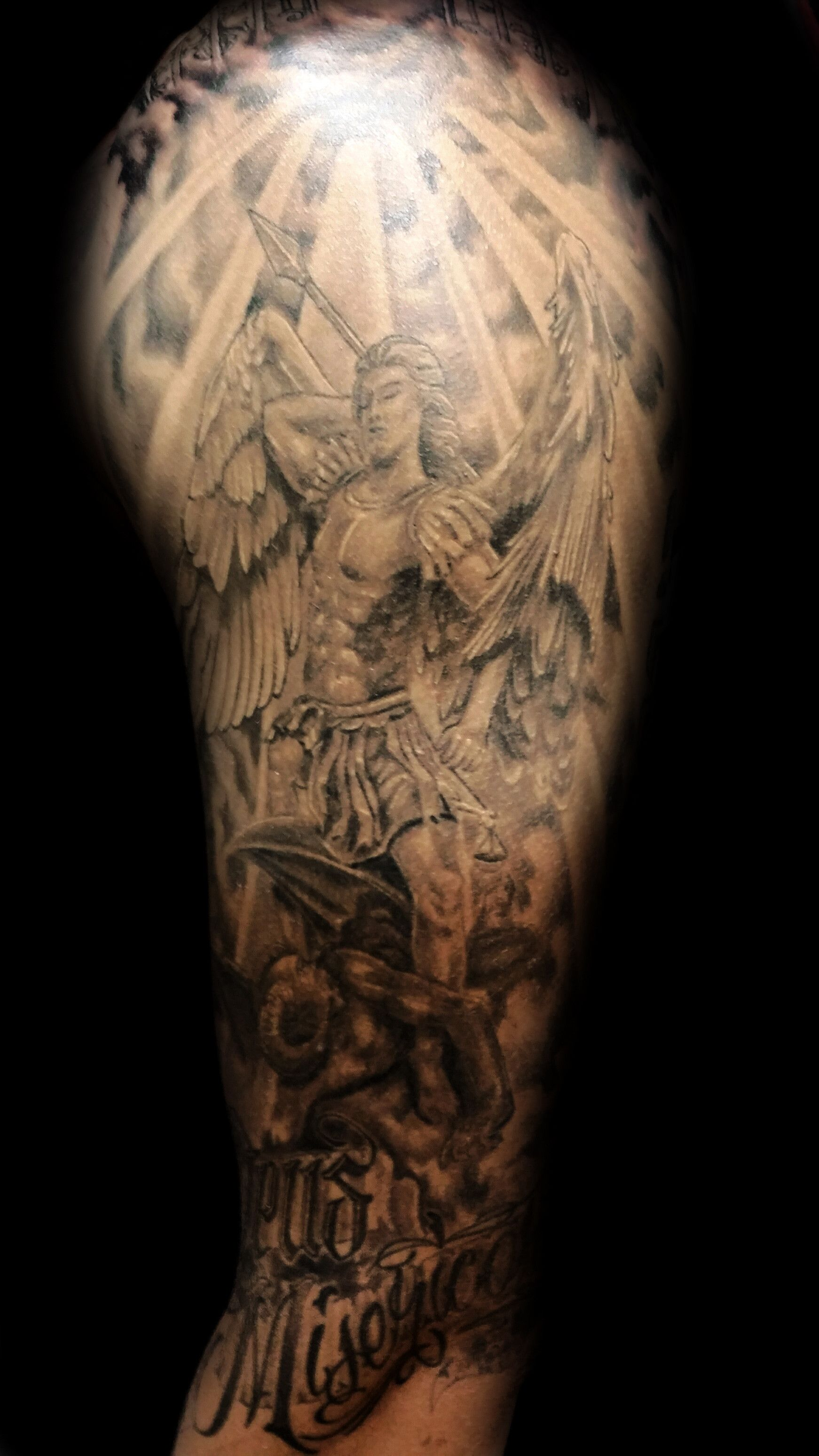 st michael tattoo angel tattoos by steve thrasher las