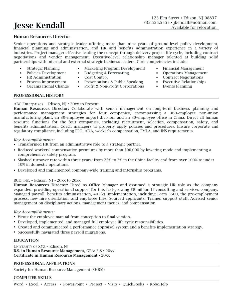 Benefits Manager Resume Summary 2019 Resume Cover Letter