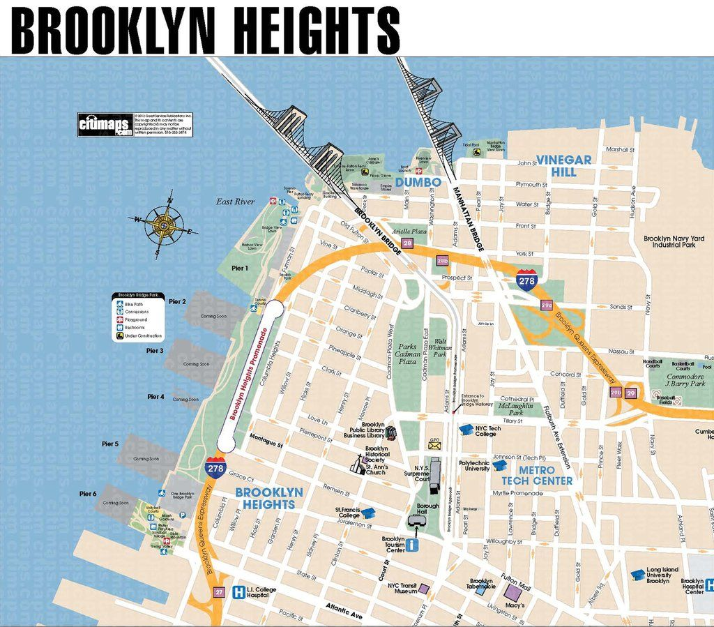 map of brooklyn heights Brooklyn Heights Promenade A Must See Beautiful And Great Views map of brooklyn heights