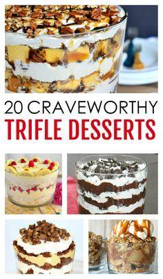 20 Craveworthy Trifle Desserts #trifledesserts