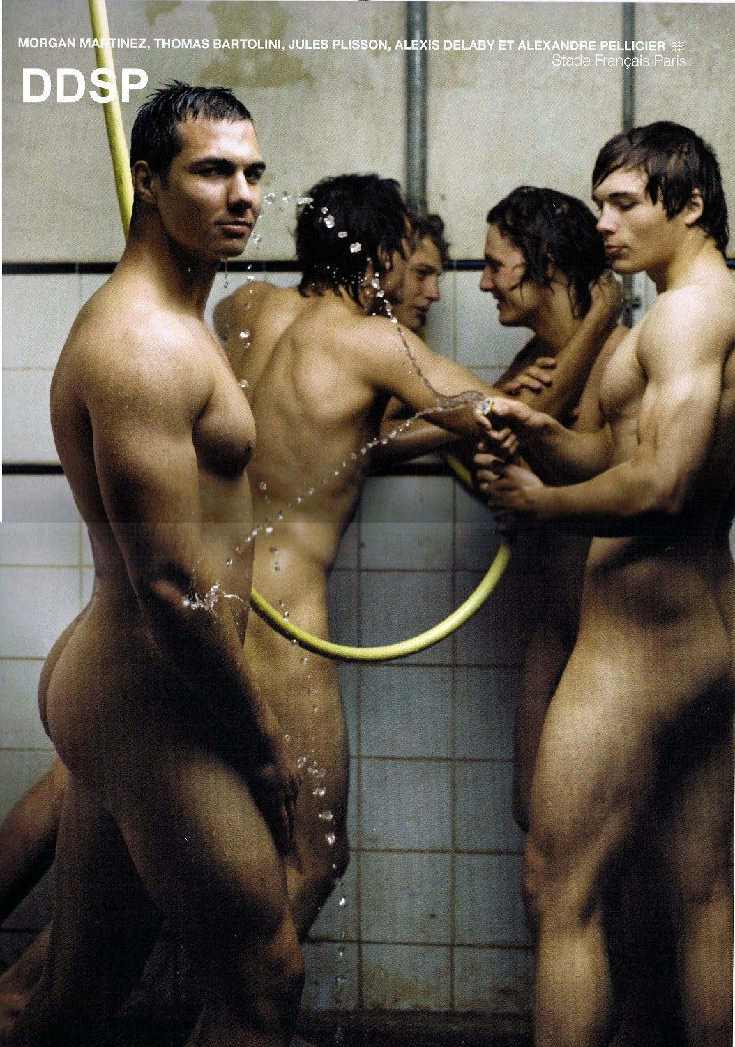 shower French rugby players