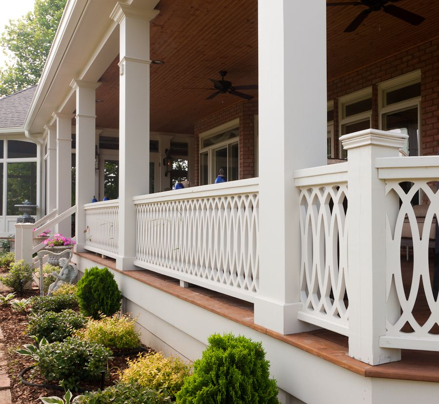 The Cathedral Scroll Panel Traditional Porch Porch Railing