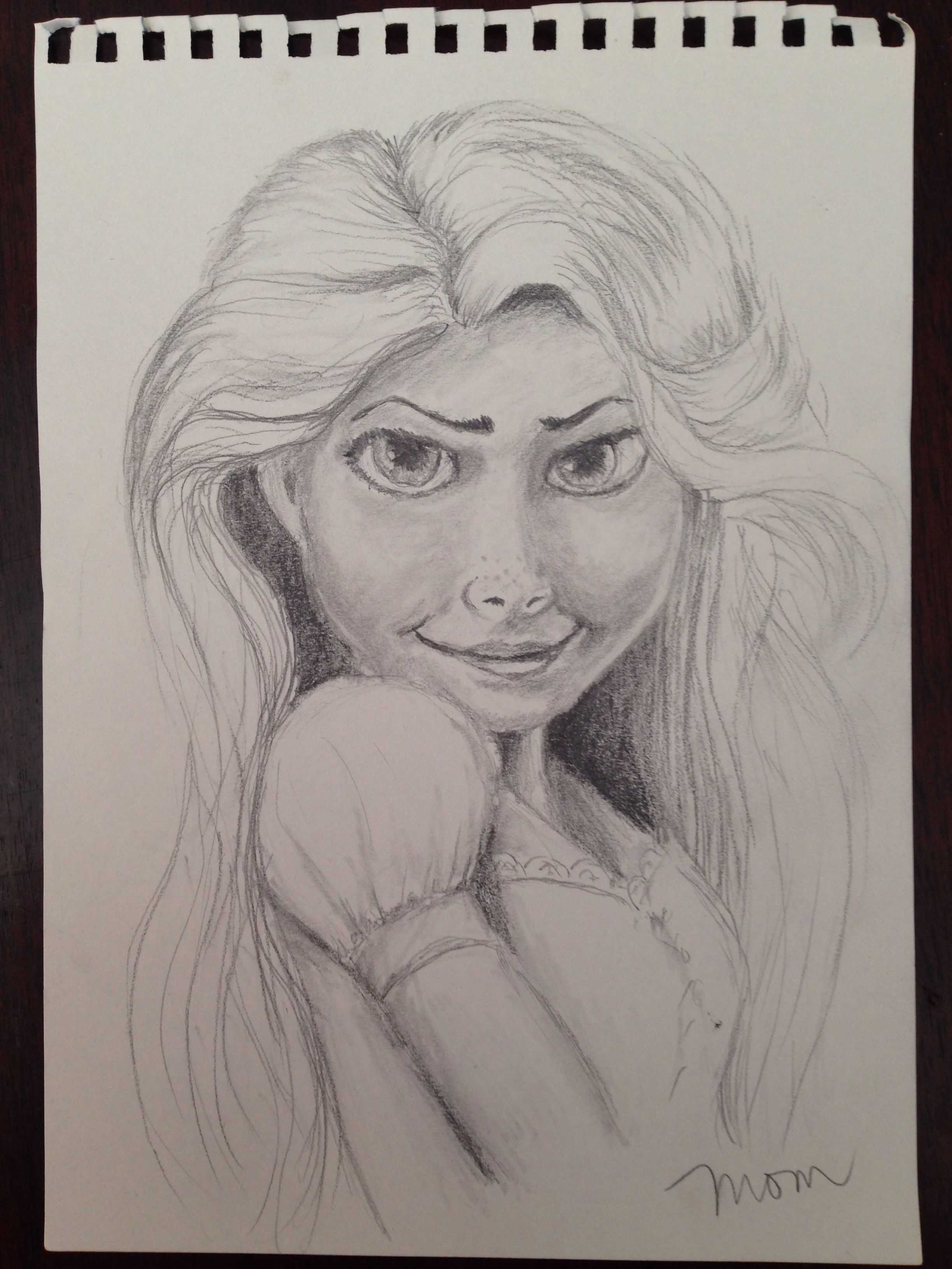 Rapunzel From Tangled Pencil Drawing Pencil Drawings Sketches Art