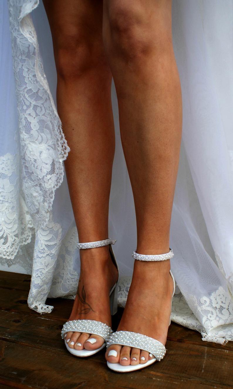33+ Pearl wedding shoes block heel ideas