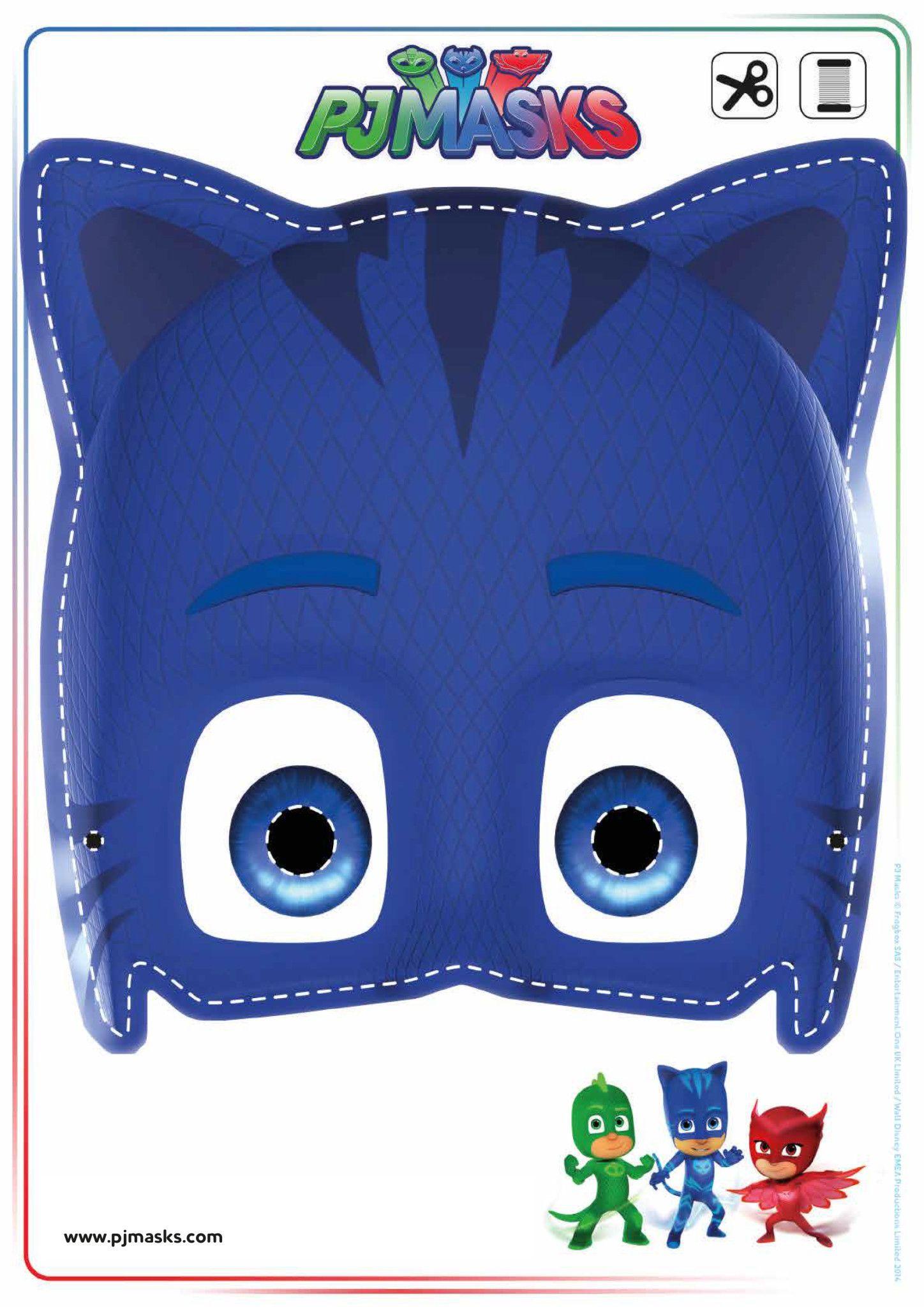 Printables pj masks owlette gekko catboy masks all for Make your own halloween mask online