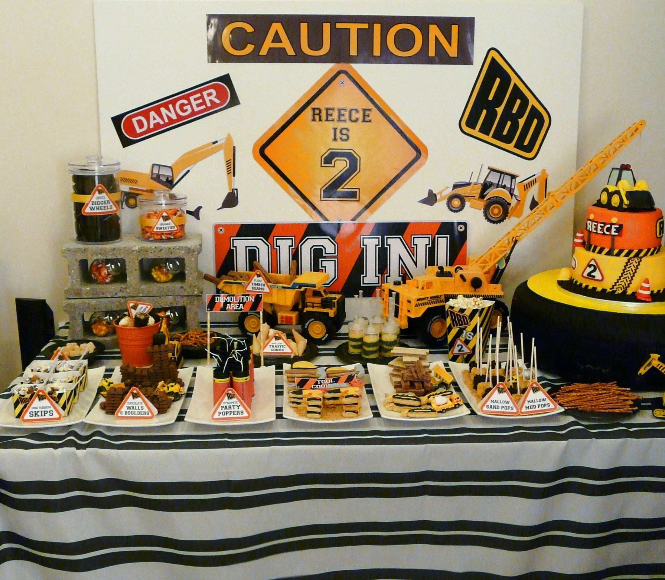 Reece's 2nd Birthday Digger Party Dessert Table By Www