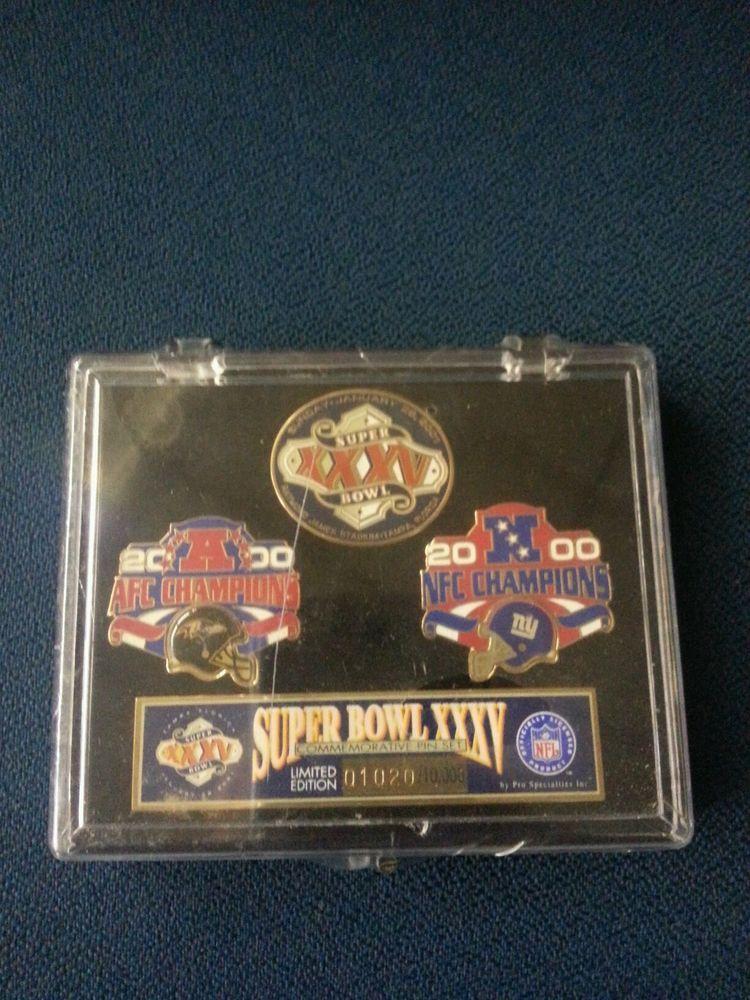 Details about ☆2001 Super Bowl XXXV Limited Edition