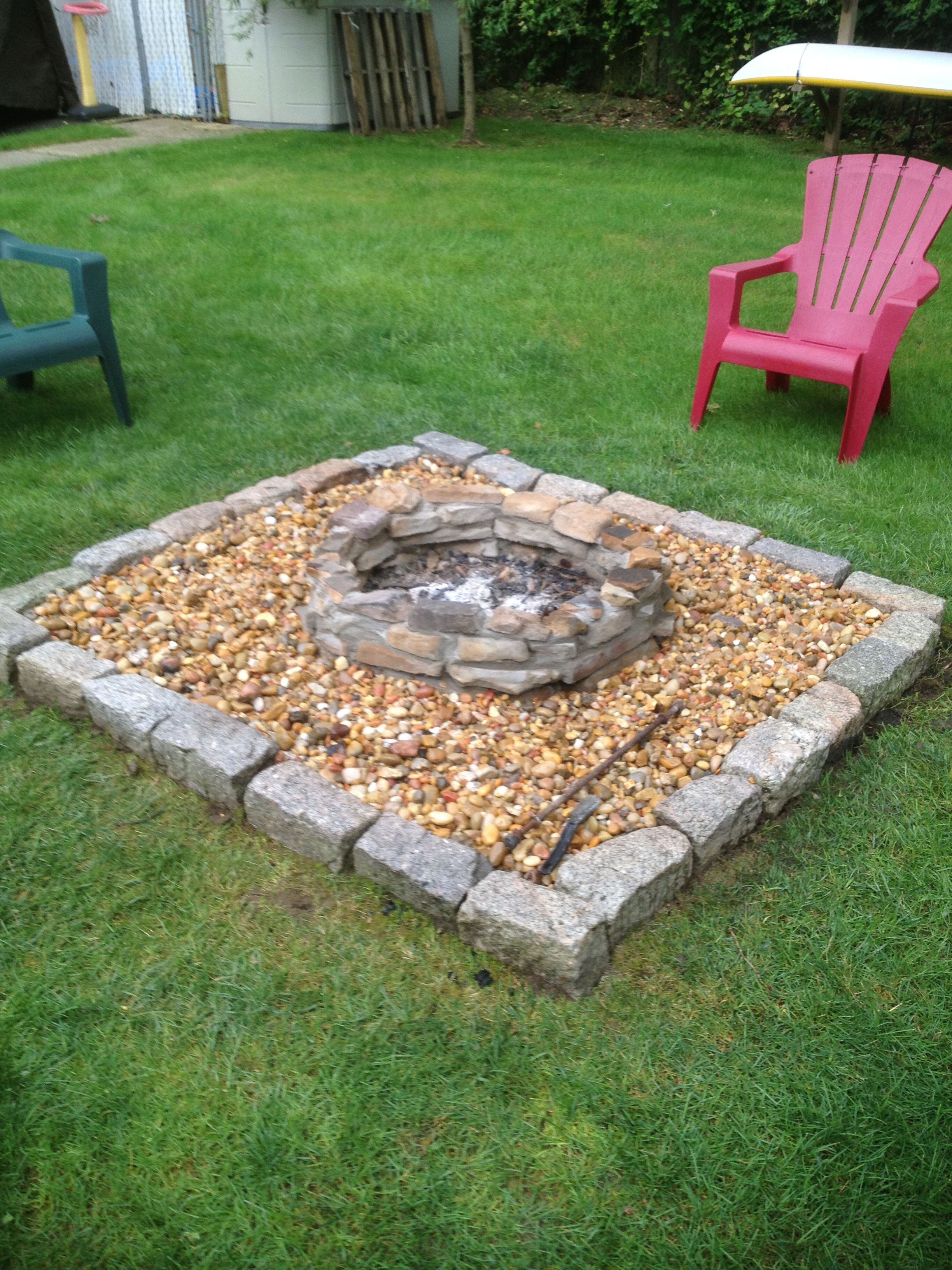 Some Old Stones And Now A New Fire Pit That Won T Rust Out Fire Pit Pallet Projects Garden Fire Pit Backyard