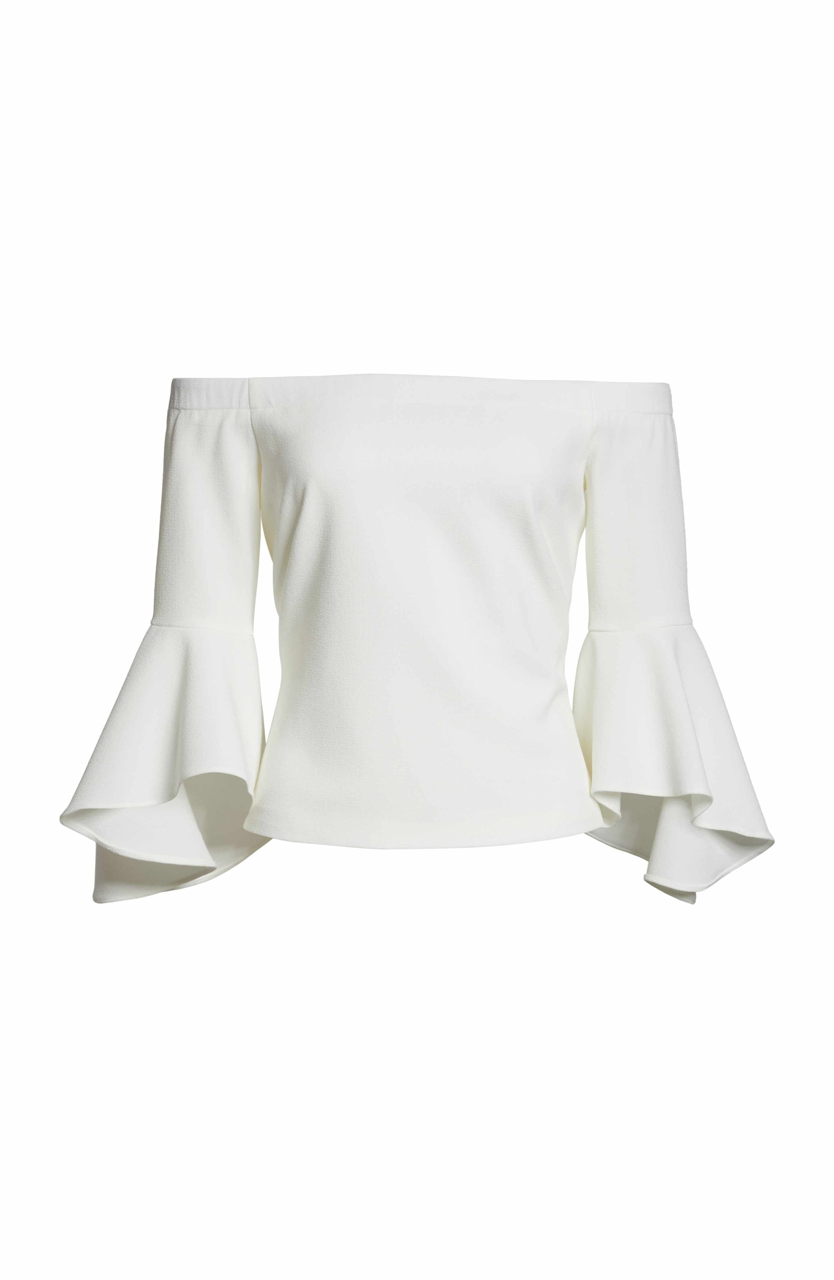 164a45b273ae74 Main Image - Eliza J Off the Shoulder Bell Sleeve Top