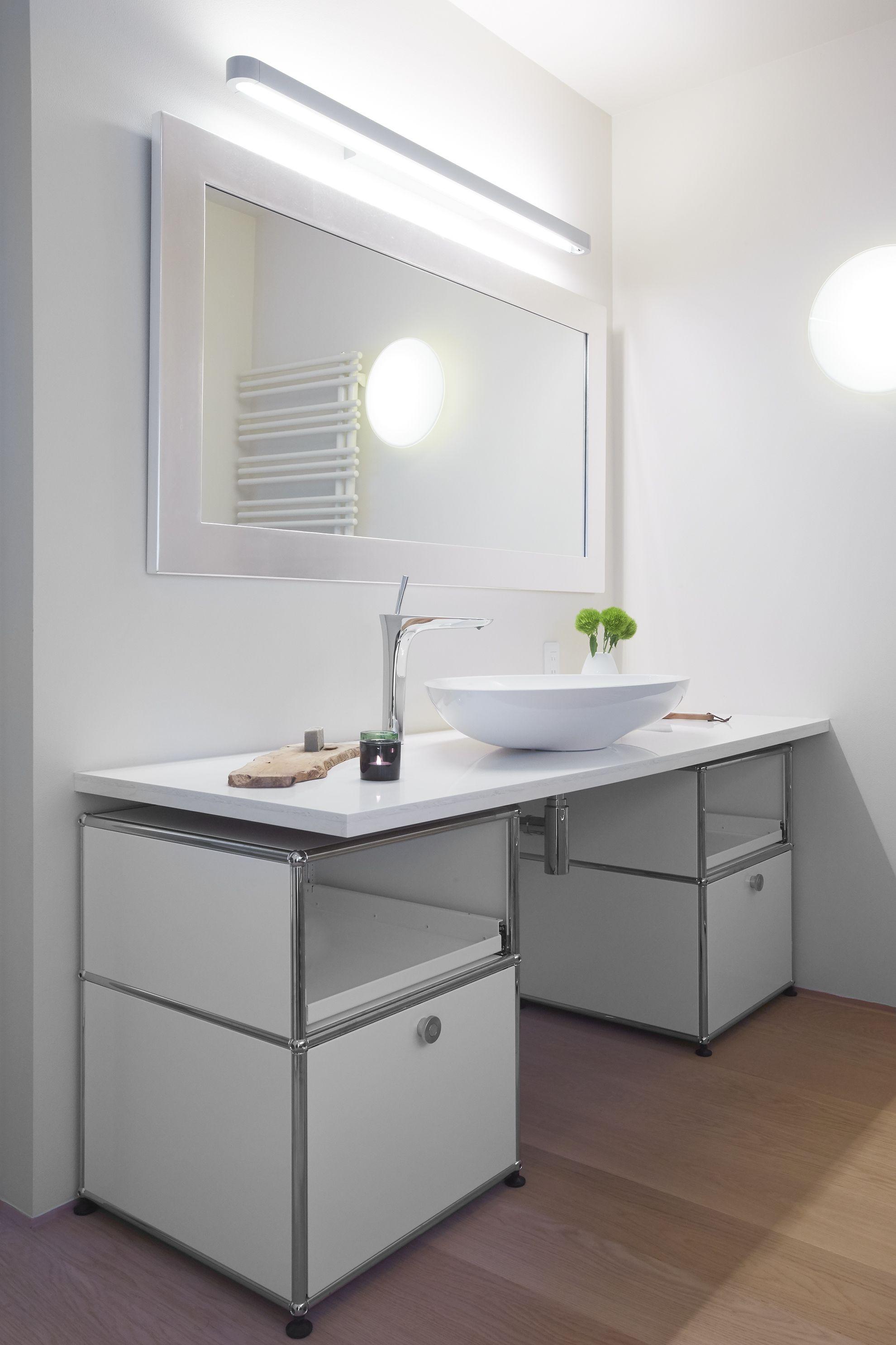 Rangement sous vasque de salle de bain - Design USM Haller - coloris ...