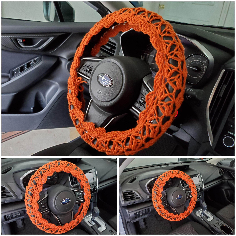 Crochet steering wheel cover steering wheel cover burnt