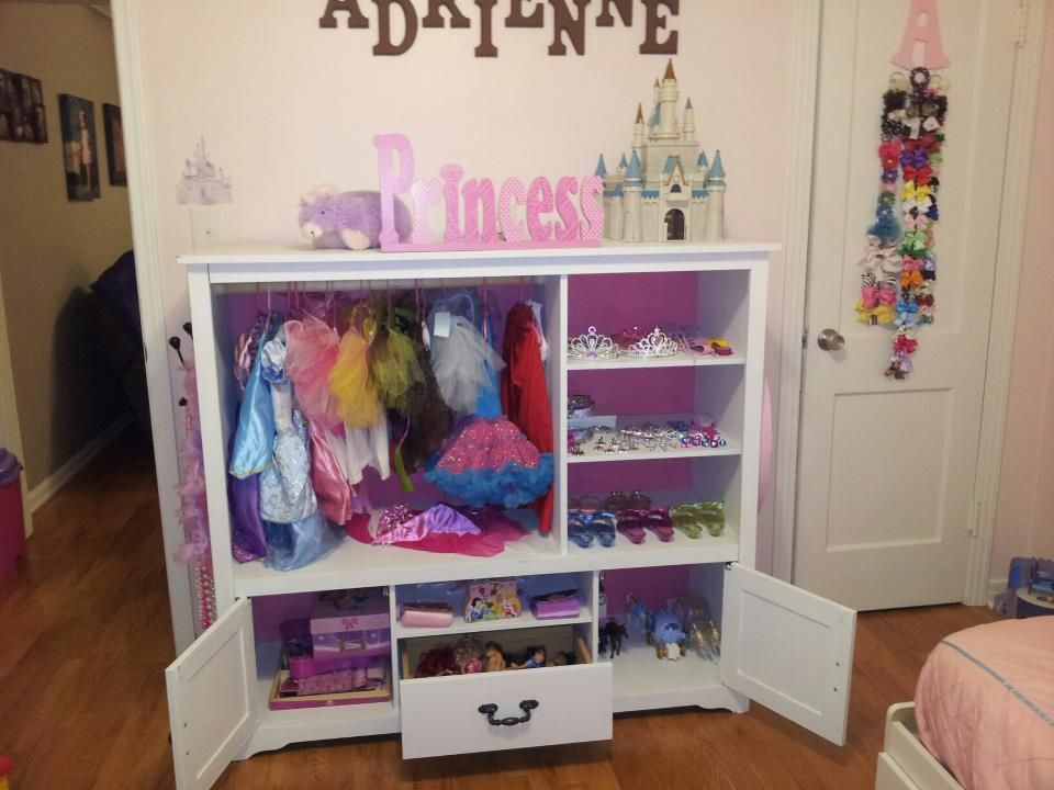 dress up station for a princess made from an old entertainment center kids kids dressers. Black Bedroom Furniture Sets. Home Design Ideas