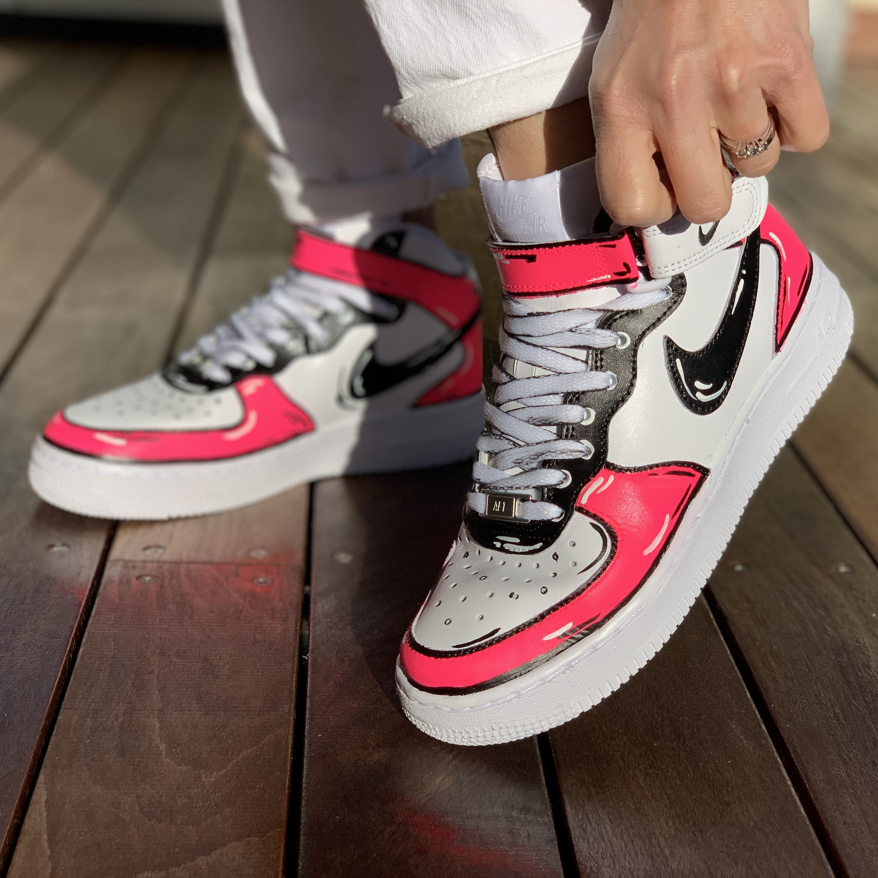 air force 1 rosa fluo
