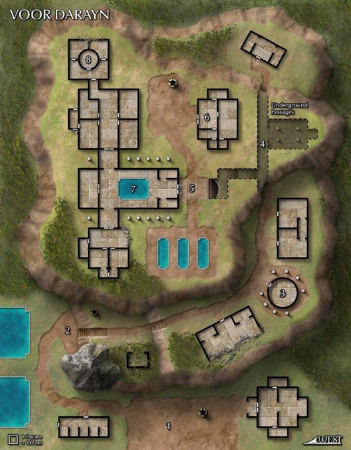 Map Of Voor Darayn Mapa Cidade Rpg