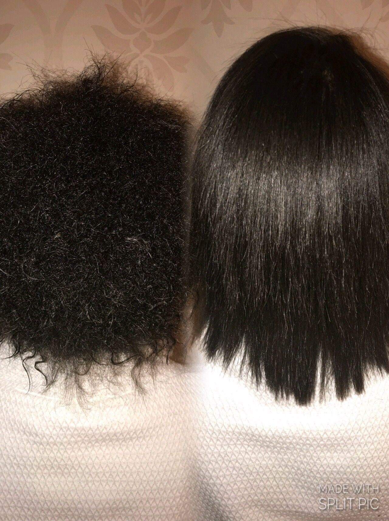 Cezanne Classic Keratin Before After On A A Client Type 3c 4a Hair 4a Hair 3c 4a Hair Natural Hair Blowout