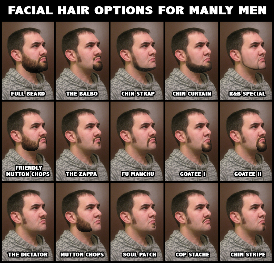 Facial Hair For Manly Men By Jwcoffeeman On Deviantart Types Of Facial Hair Mens Facial Hair Styles Types Of Beards