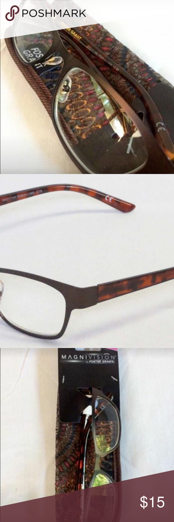 Cat's Eye/Case Magnivision Reading glasses +2.50 NWT