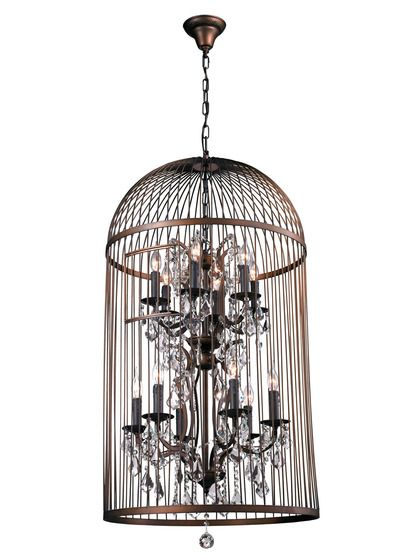 Vintage bird cage chandelier bird cages foyers and chandeliers vintage bird cage chandelier by bois et cuir by cdi intl at gilt aloadofball Gallery